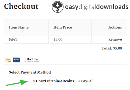 bitcoin payments easy digital downloads