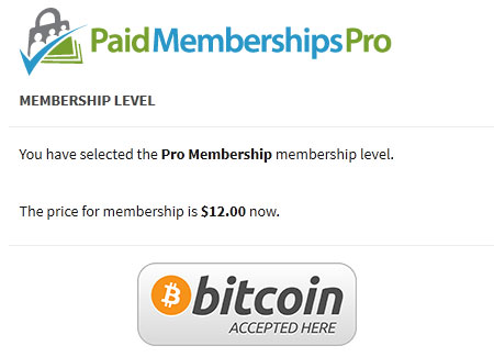 bitcoin payments Paid Memberships Pro