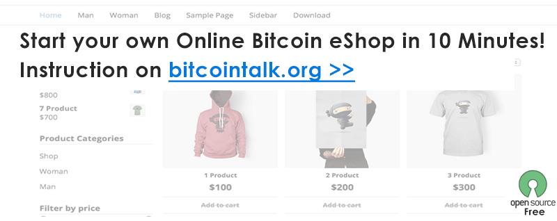 free bitcoin shop