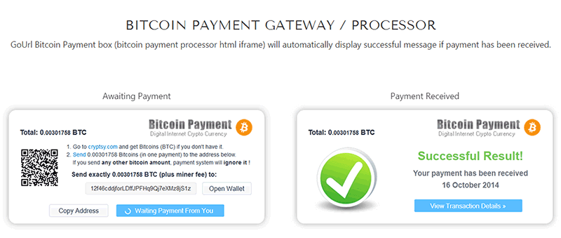 bitcoin integration php