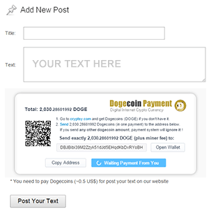 pay-per-post peercoin api