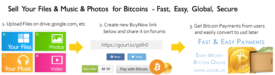 sell files for bitcoins